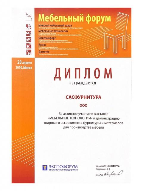 Диплом за 2010 год